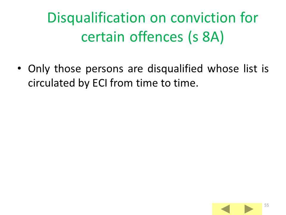 Disqualification on conviction for certain offences (s 8A)