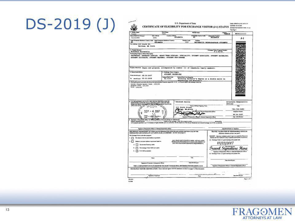 DS-2019 (J)