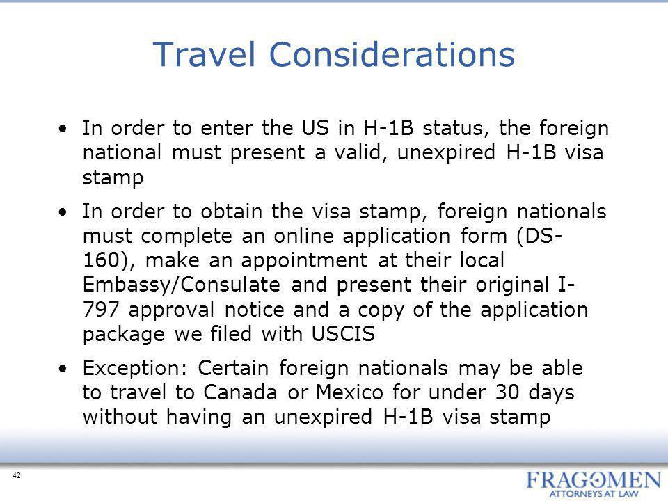 Travel Considerations
