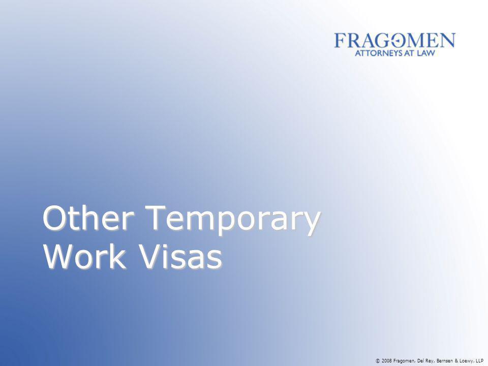 Other Temporary Work Visas
