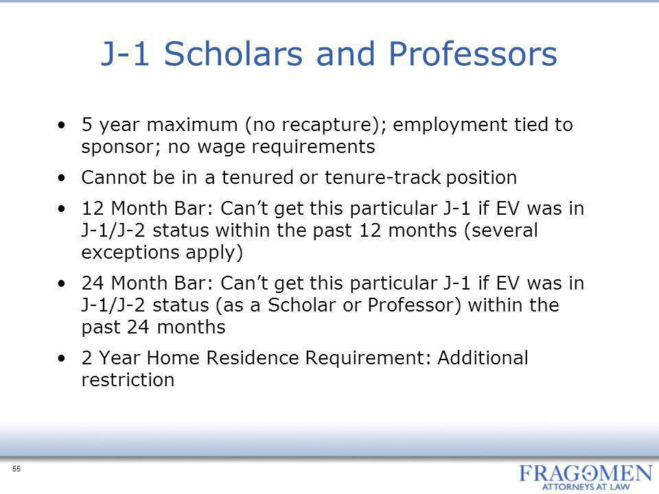 J-1 Scholars and Professors