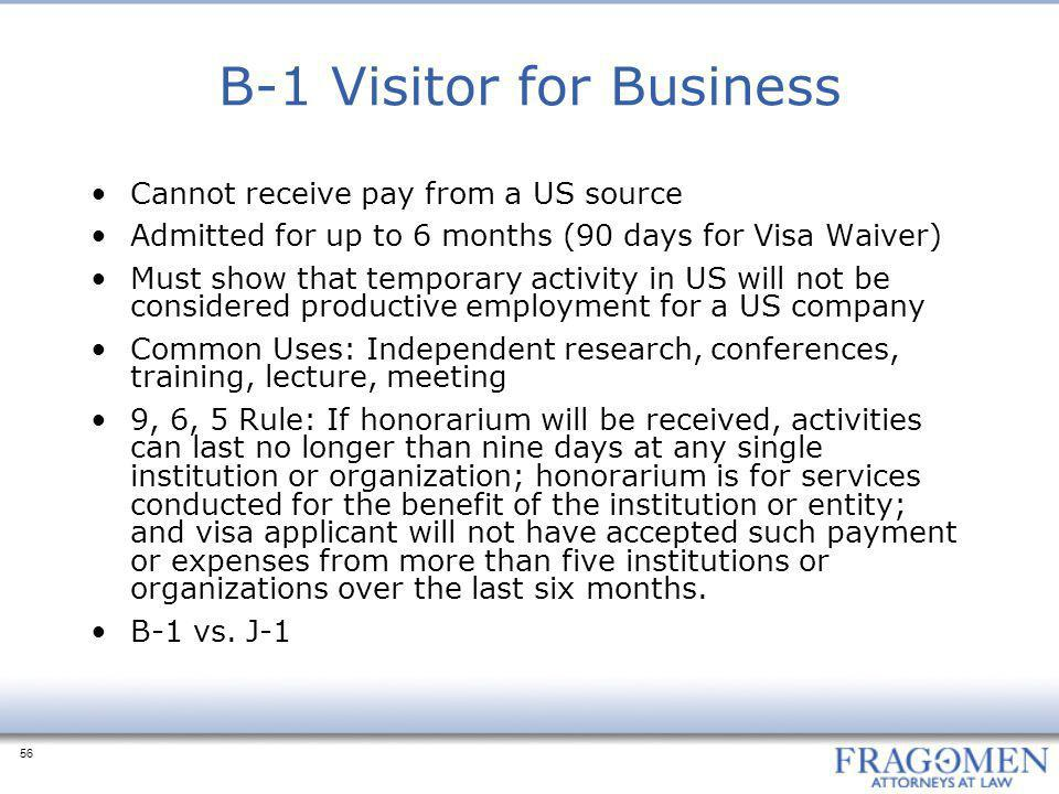 B-1 Visitor for Business