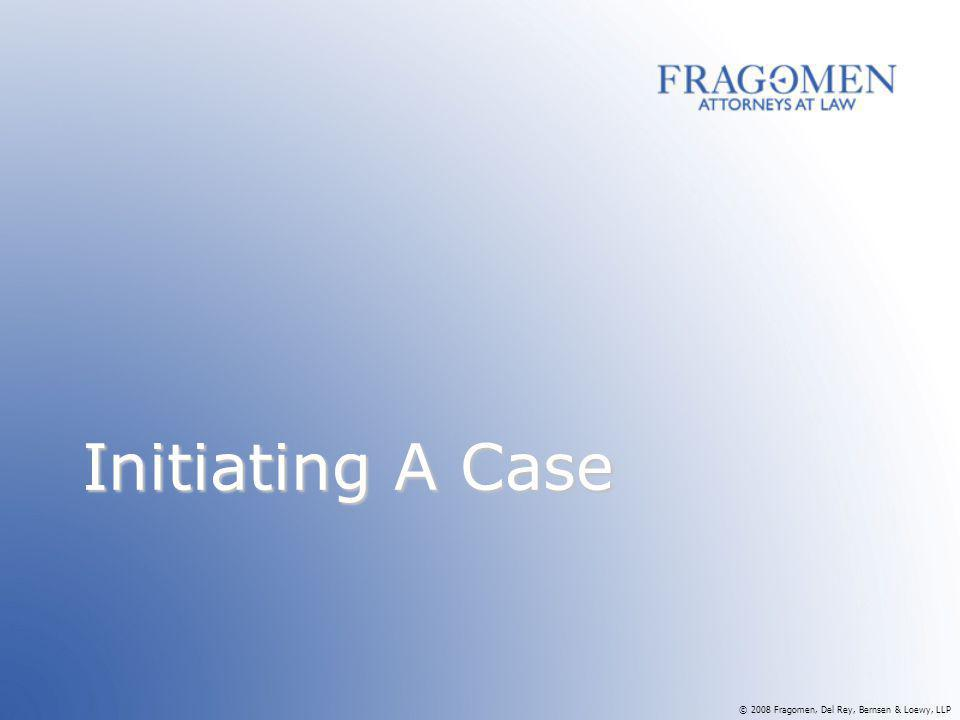 Initiating A Case