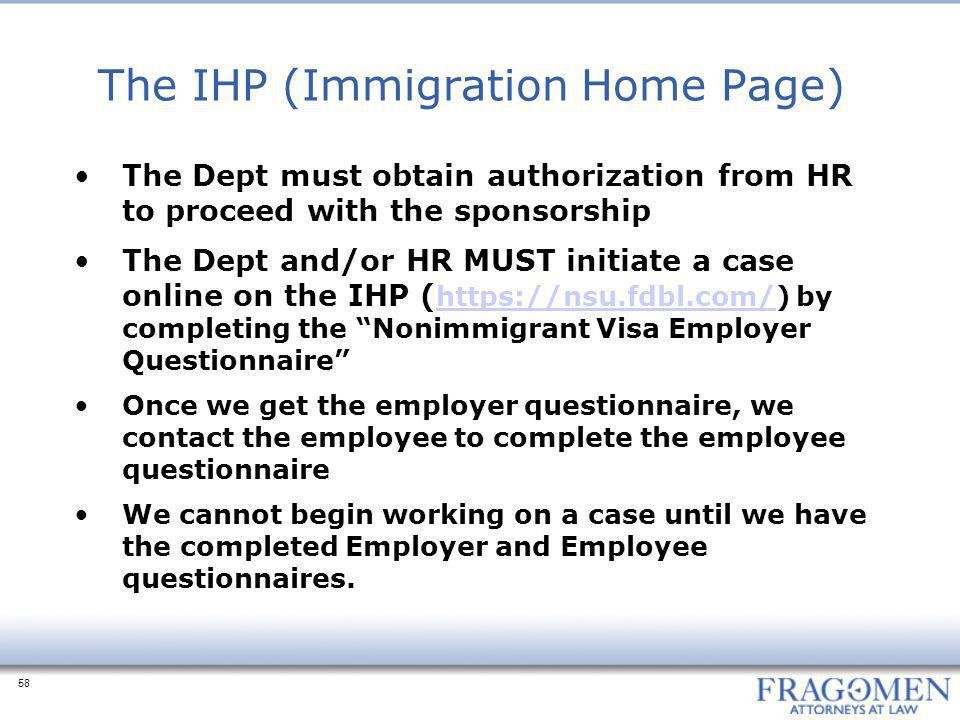 The IHP (Immigration Home Page)