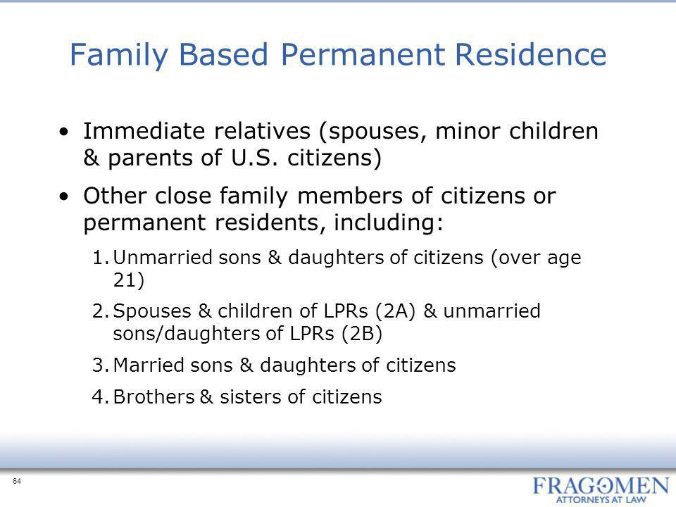 Family Based Permanent Residence