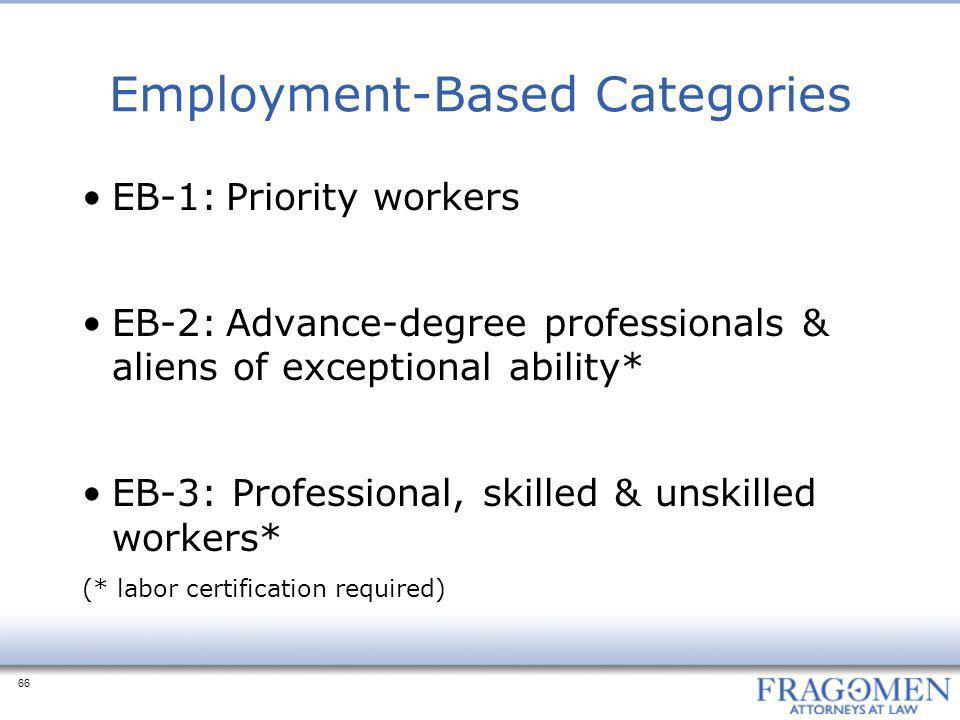 Employment-Based Categories