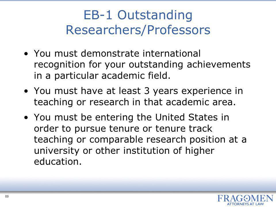 EB-1 Outstanding Researchers/Professors