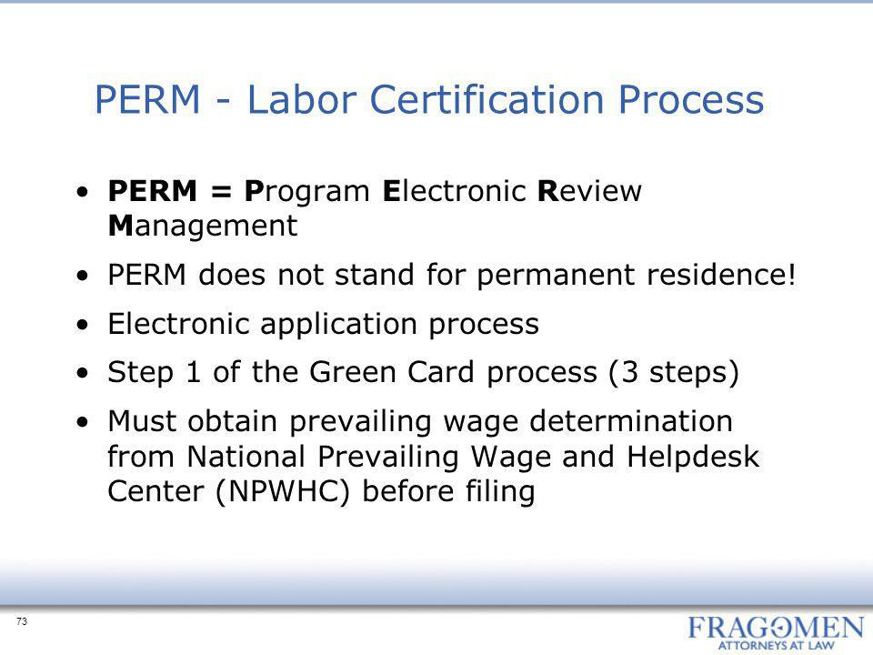 Application For Permanent Employment Certification Processing Time