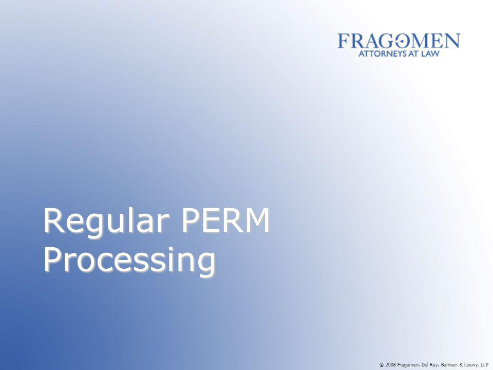 Regular PERM Processing