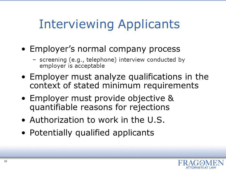 Interviewing Applicants