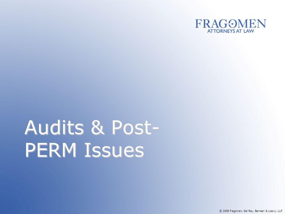 Audits & Post-PERM Issues