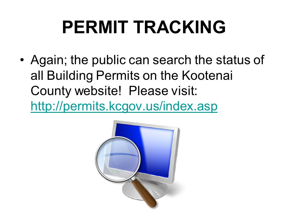 PERMIT TRACKING