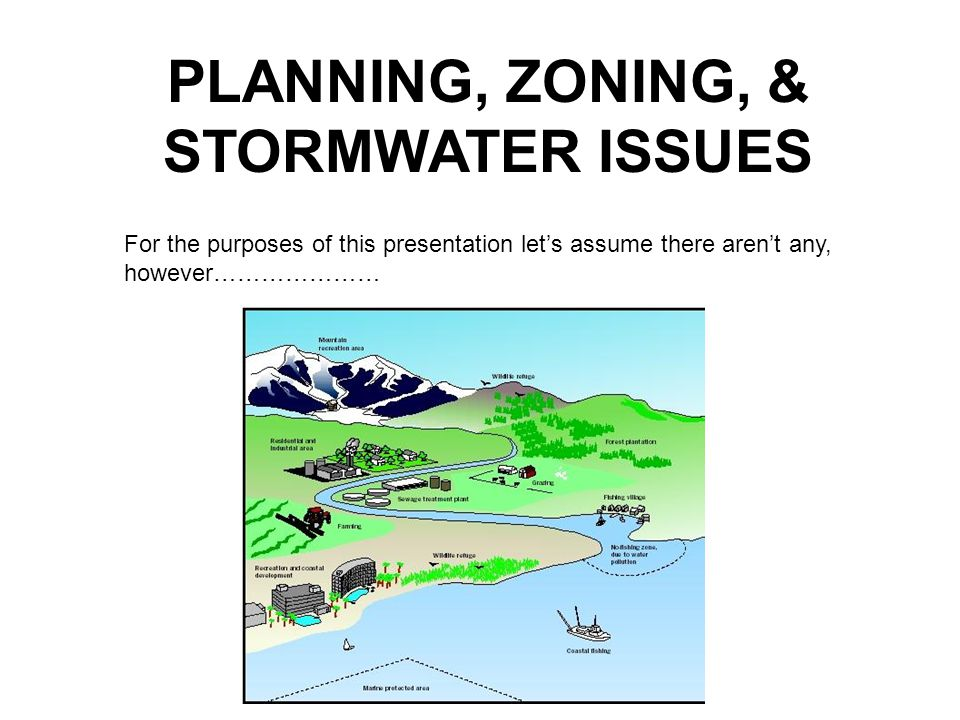 PLANNING, ZONING, & STORMWATER ISSUES