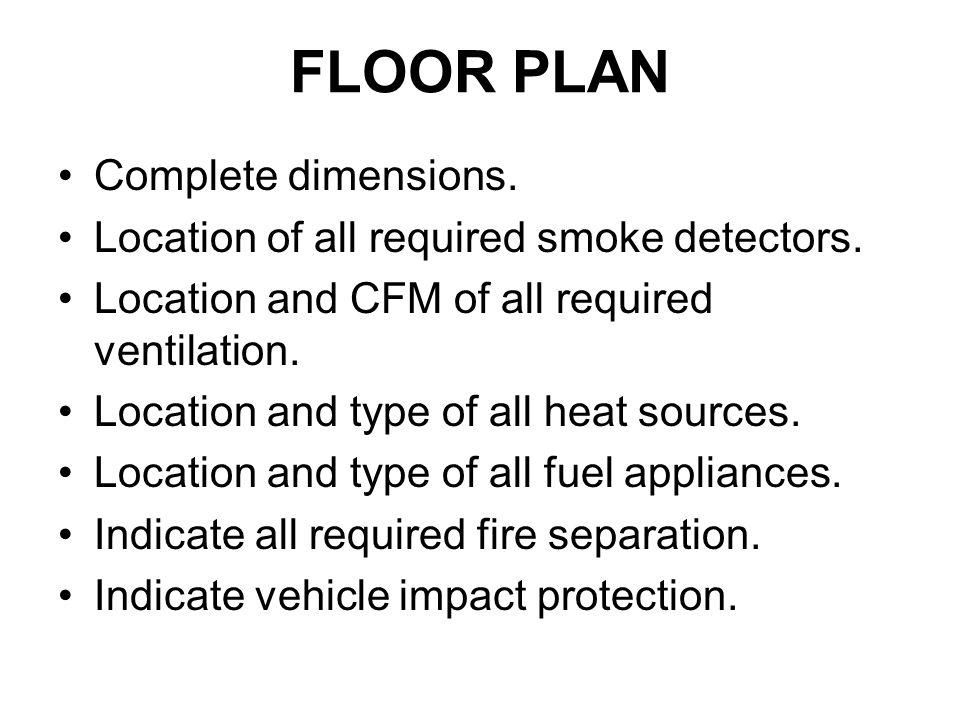 FLOOR PLAN Complete dimensions.