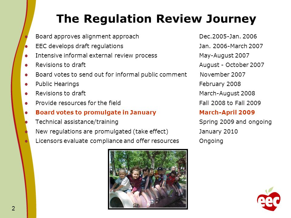 The Regulation Review Journey