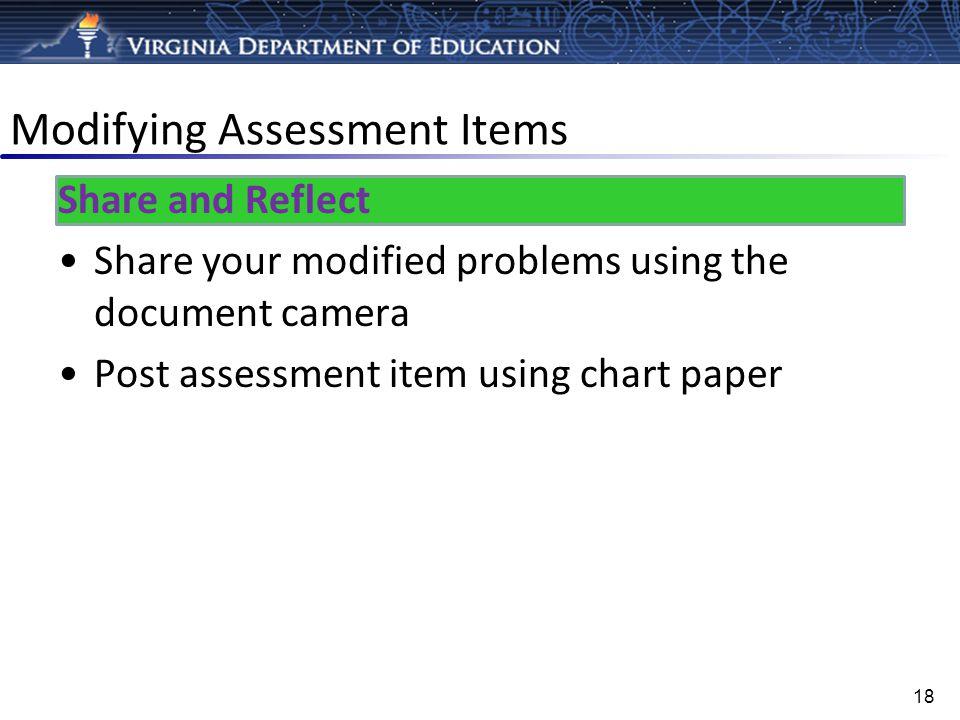 Modifying Assessment Items