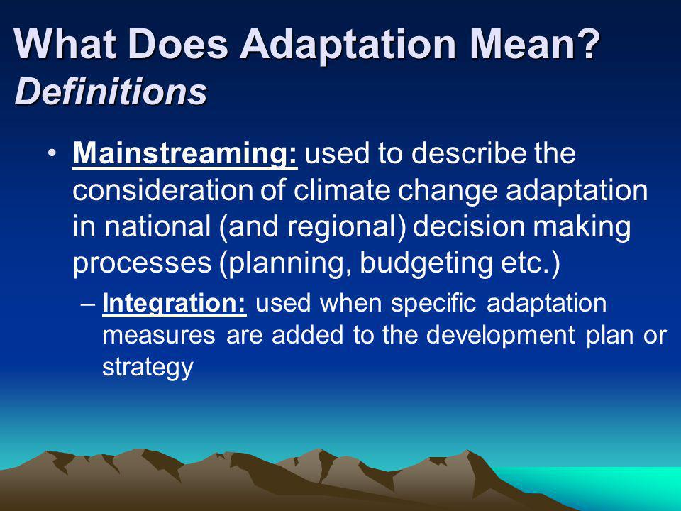 What Does Adaptation Mean Definitions