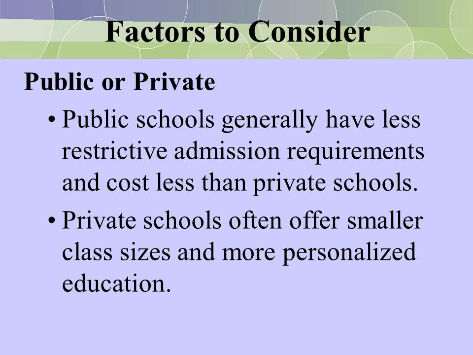 Factors to Consider Public or Private