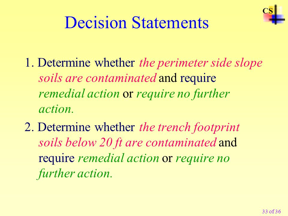 CS Decision Statements.
