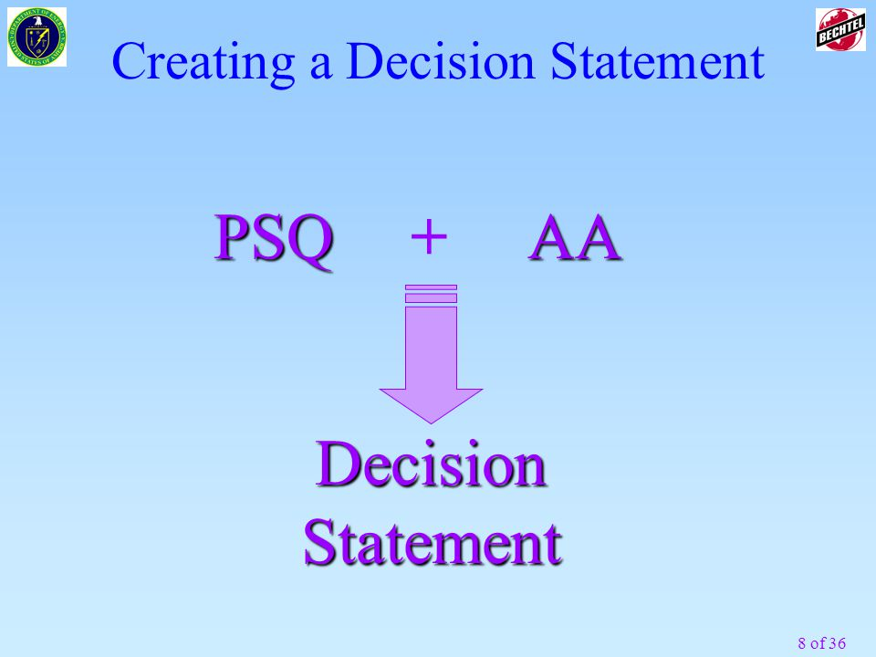 Creating a Decision Statement