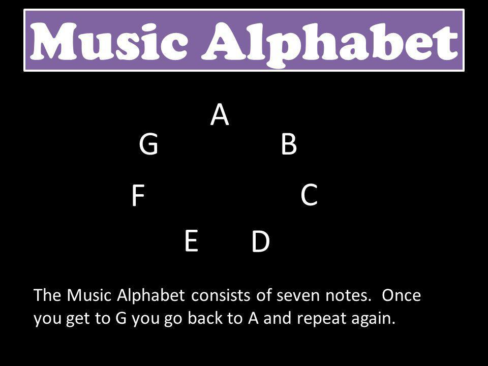 Music Alphabet A G B F C E D
