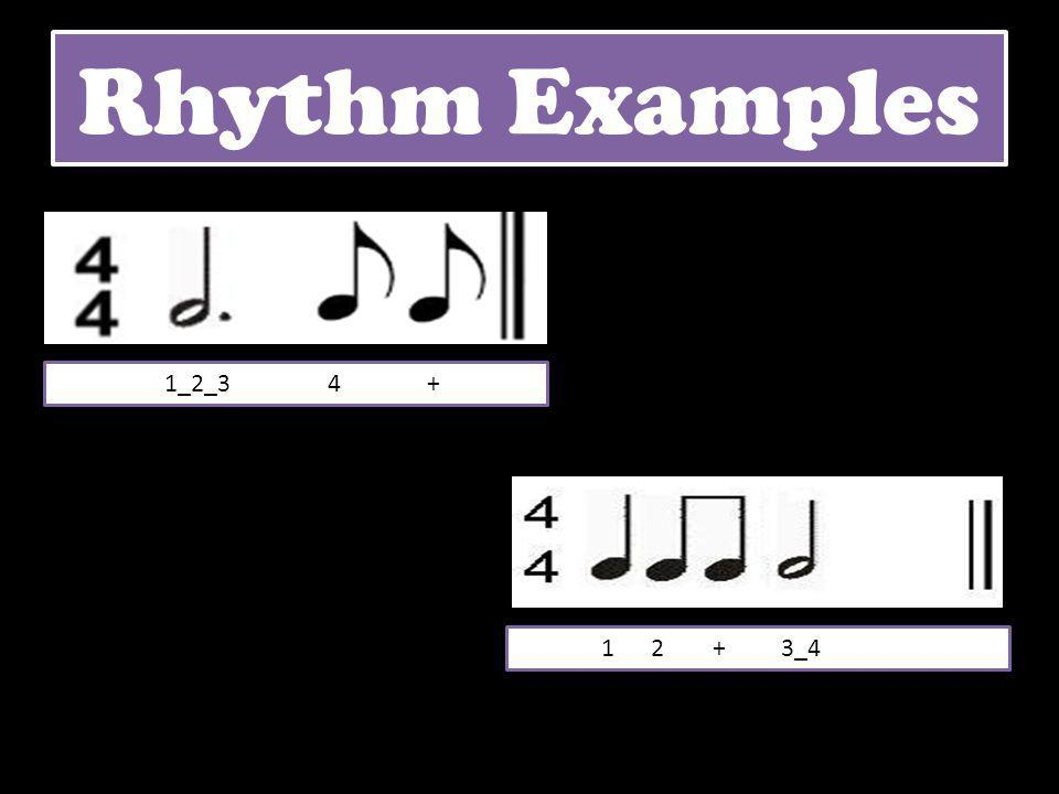 Rhythm Examples 1_2_3 4 + 1 2 + 3_4
