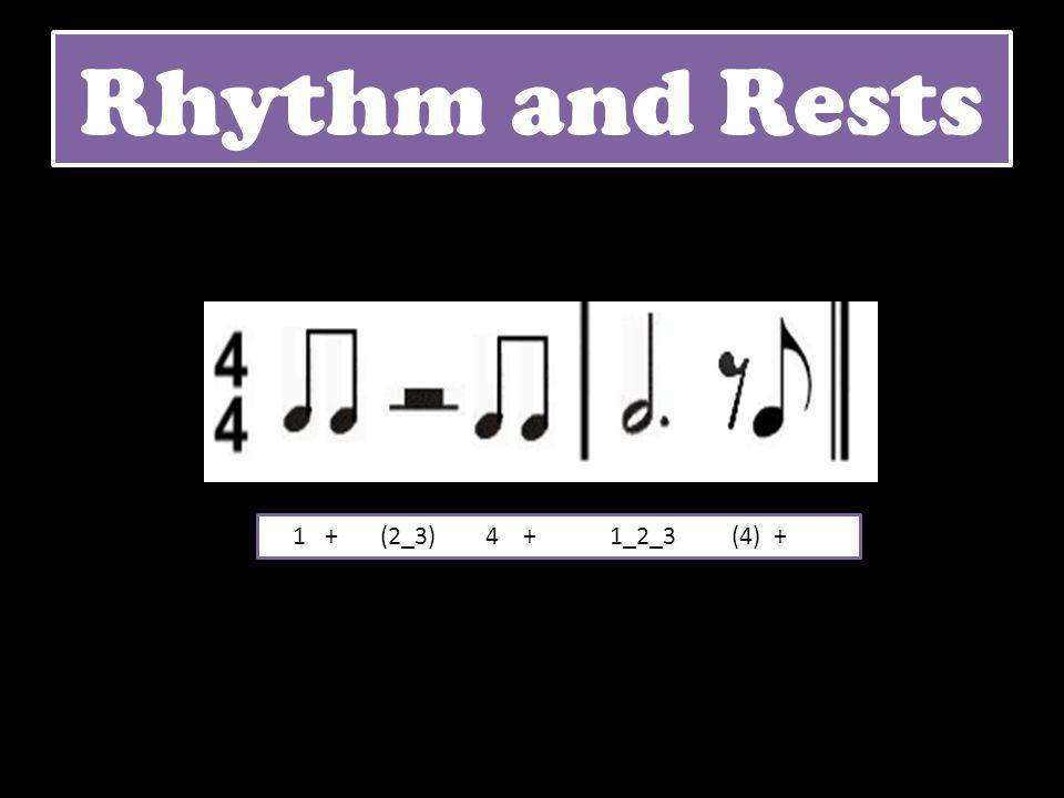 Rhythm and Rests 1 + (2_3) 4 + 1_2_3 (4) +