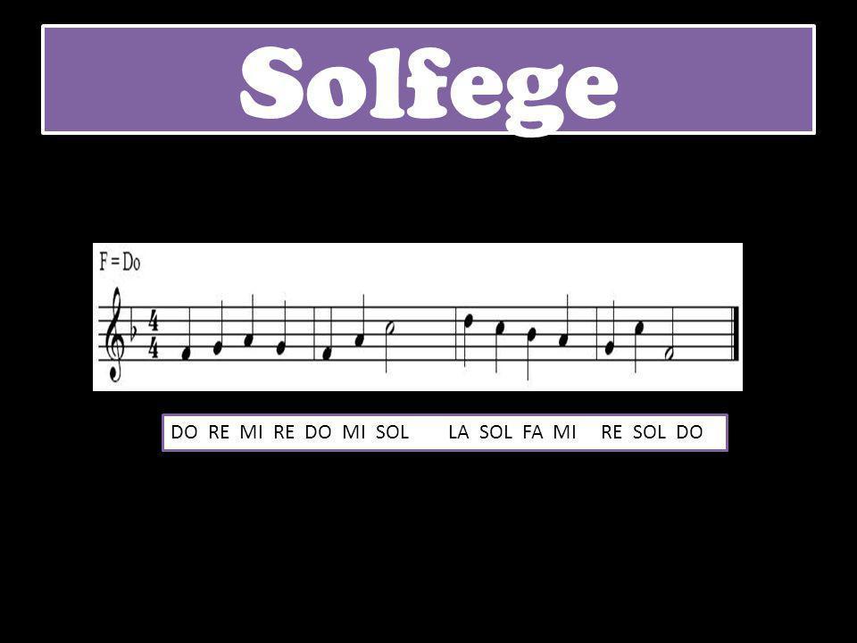 Solfege DO RE MI RE DO MI SOL LA SOL FA MI RE SOL DO