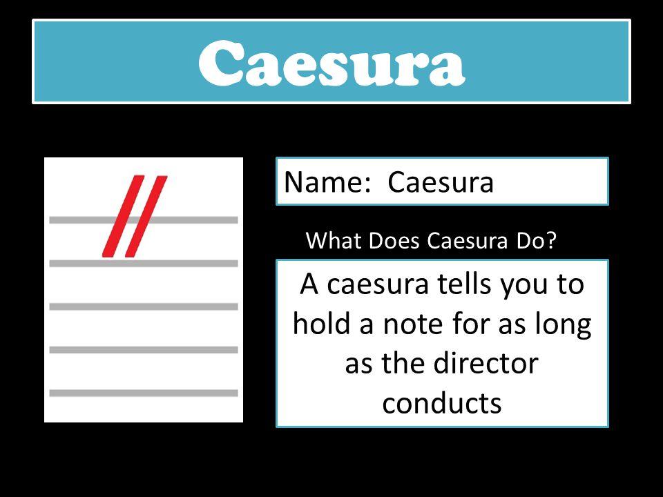 Caesura Name: Caesura. What Does Caesura Do.