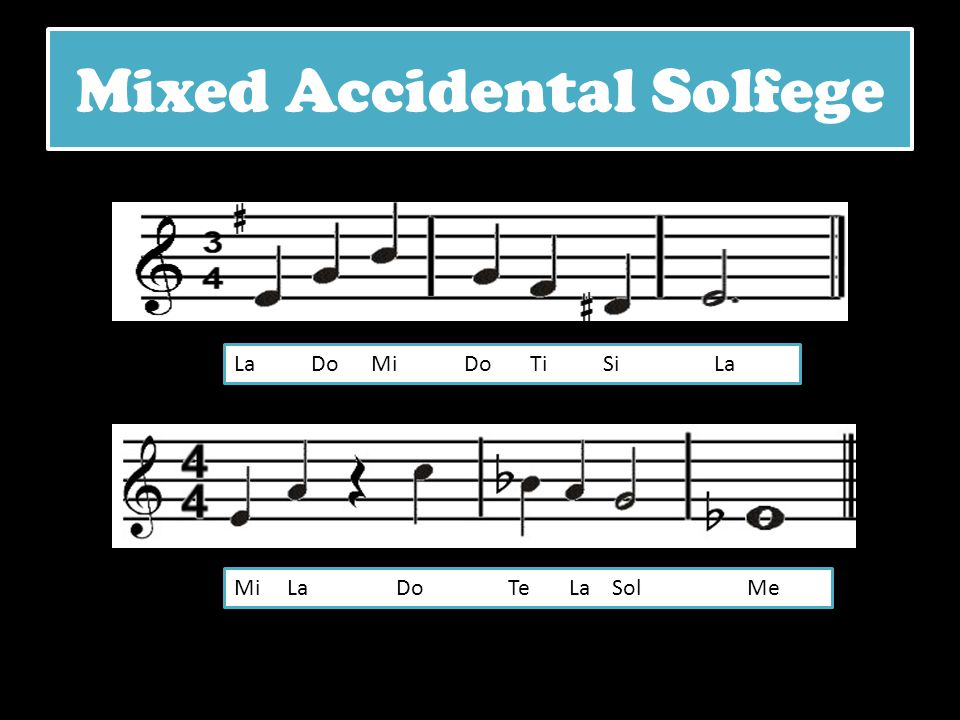 Mixed Accidental Solfege