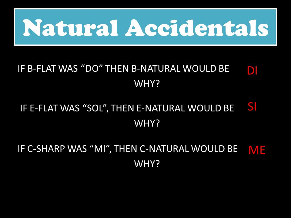 Natural Accidentals DI SI ME