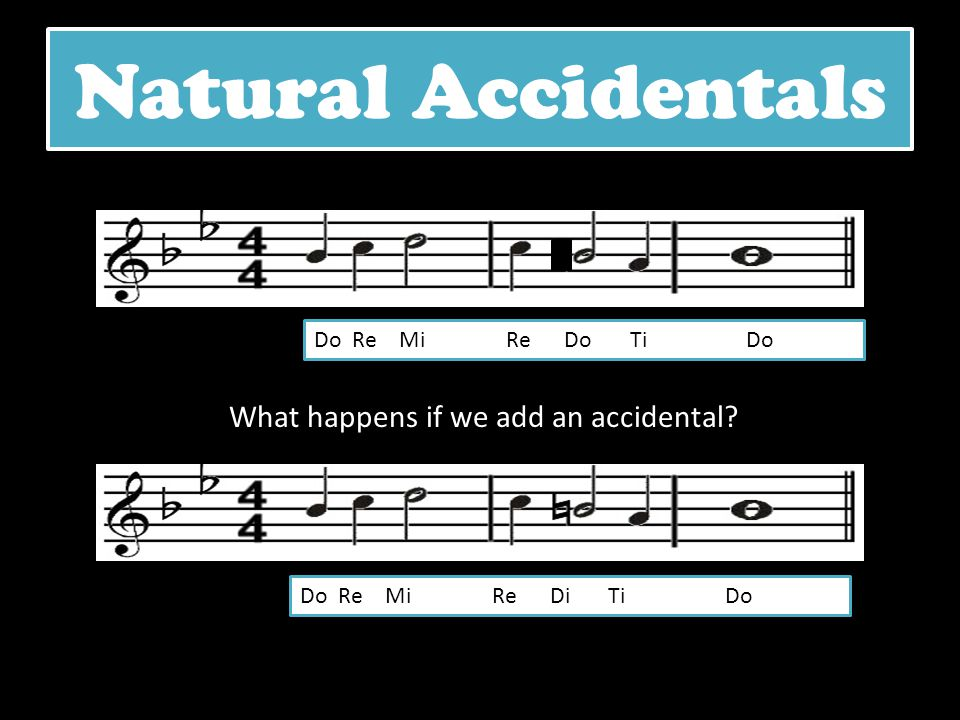 What happens if we add an accidental