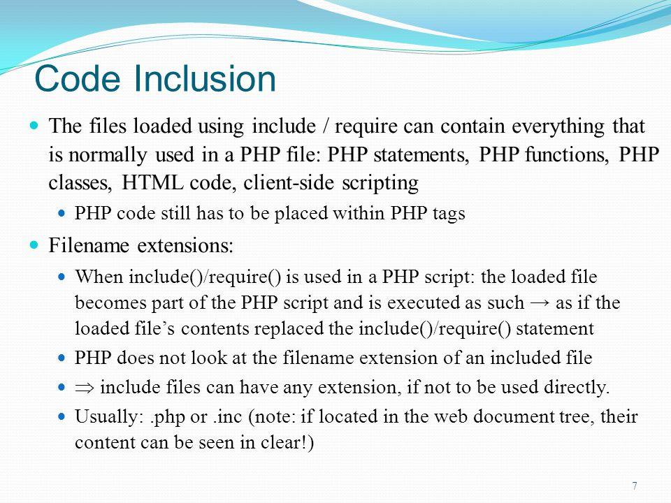 Code Inclusion