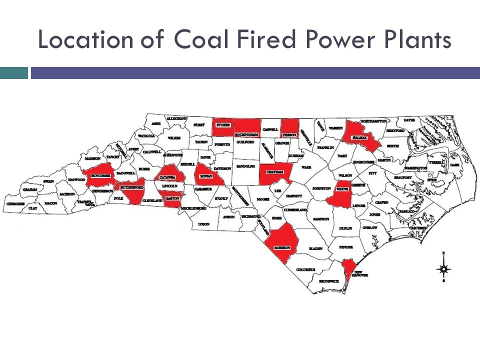 Location of Coal Fired Power Plants