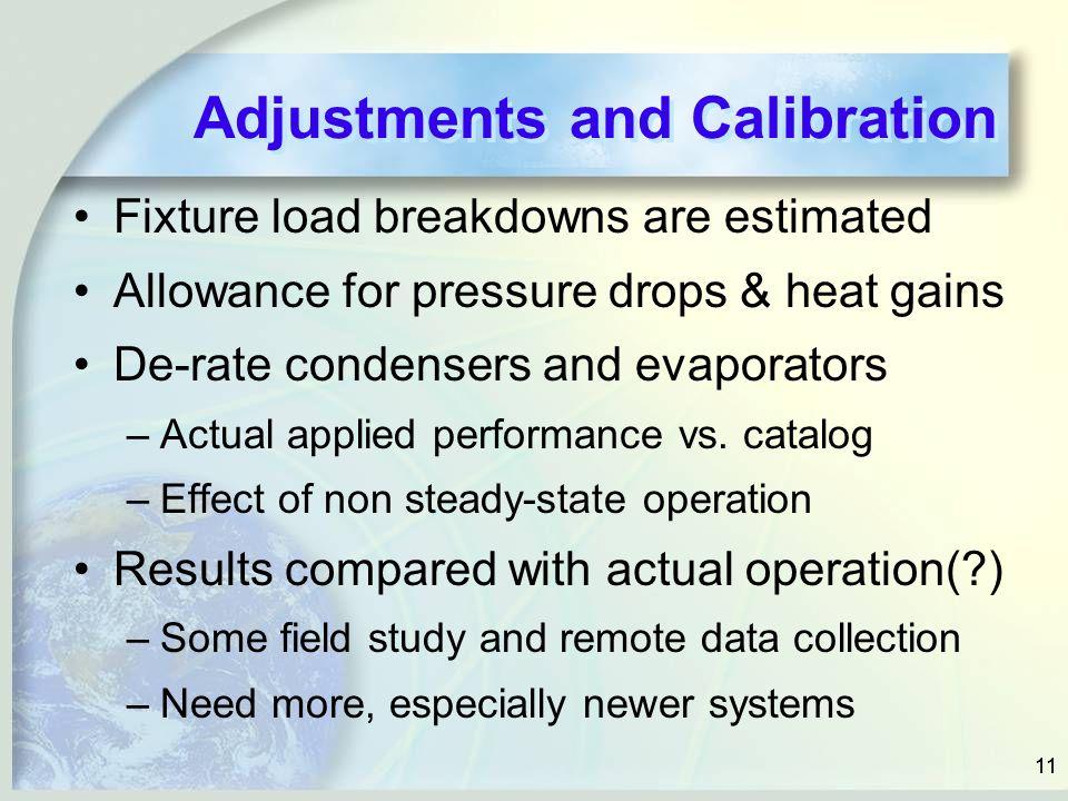Adjustments and Calibration