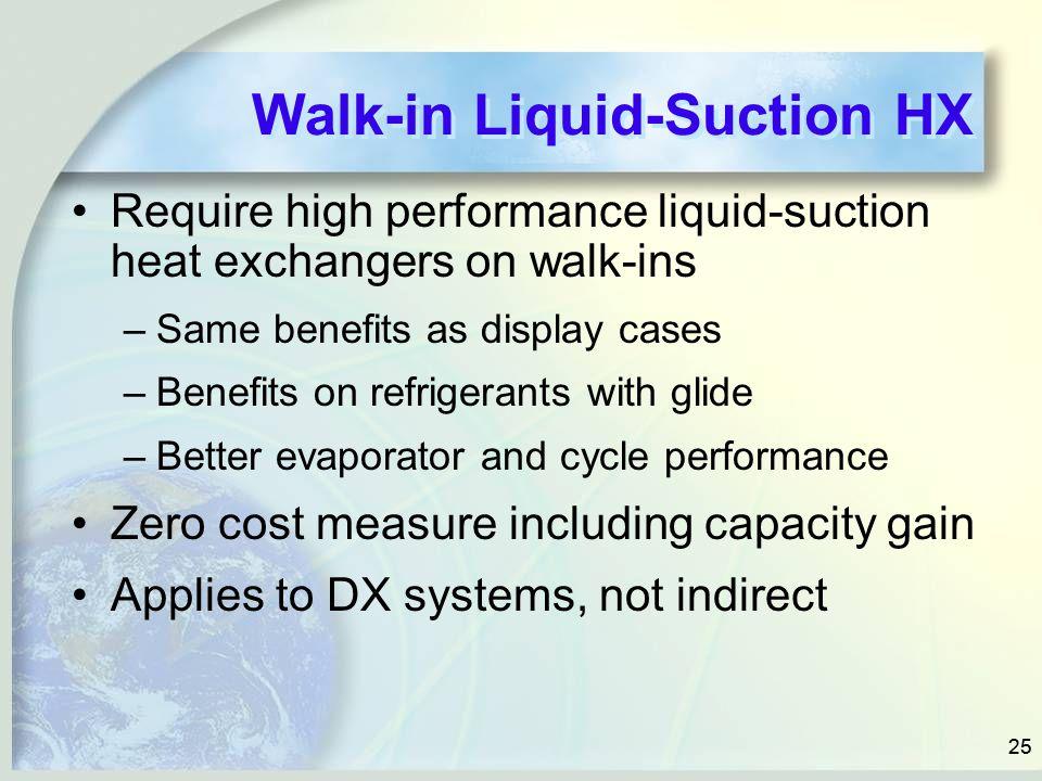 Walk-in Liquid-Suction HX