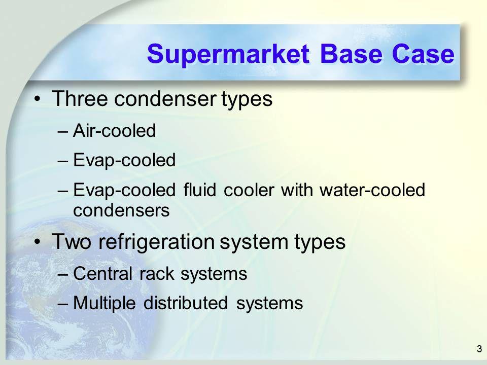 Supermarket Base Case Three condenser types