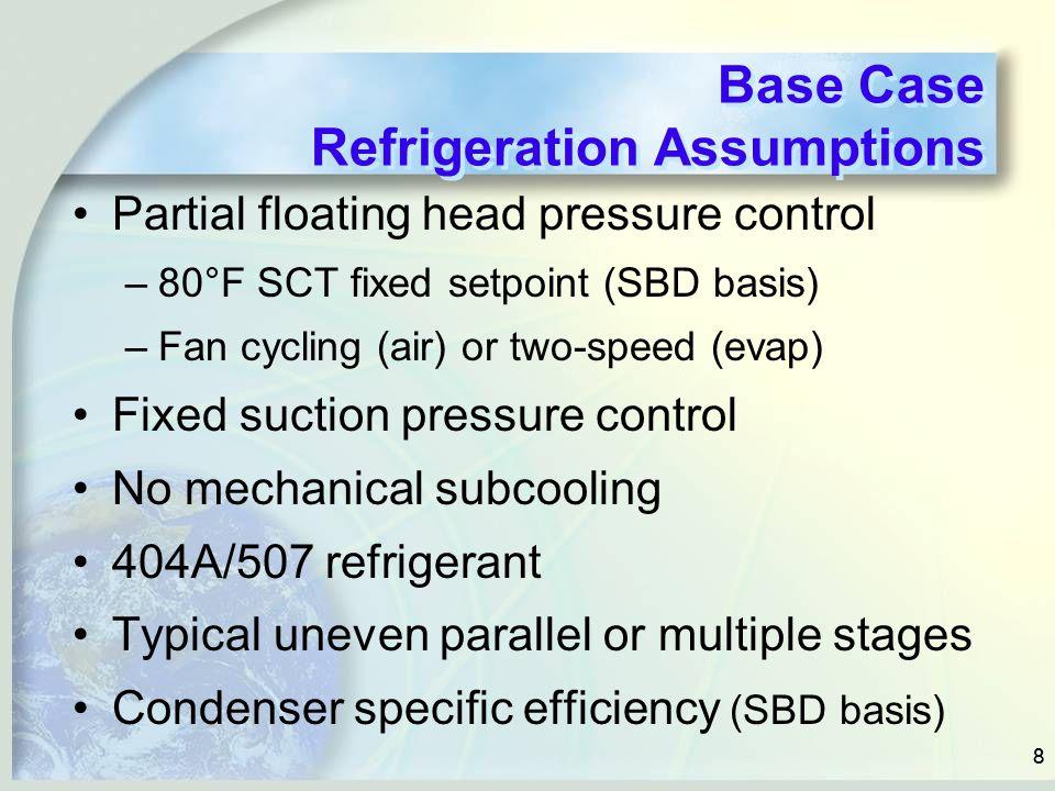 Base Case Refrigeration Assumptions