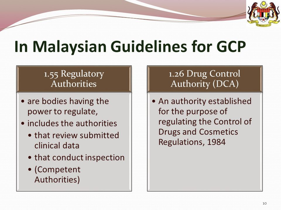 In Malaysian Guidelines for GCP