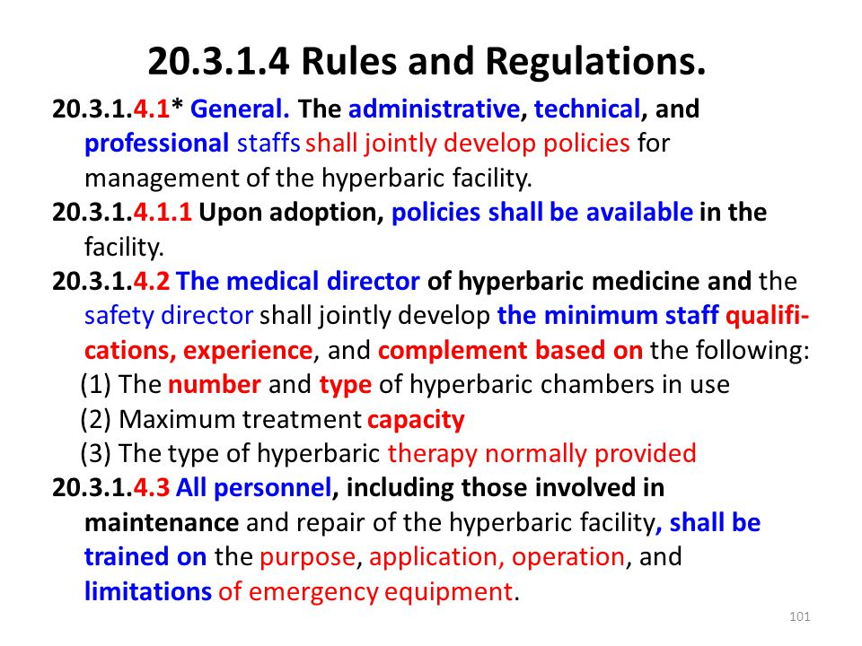20.3.1.4 Rules and Regulations.