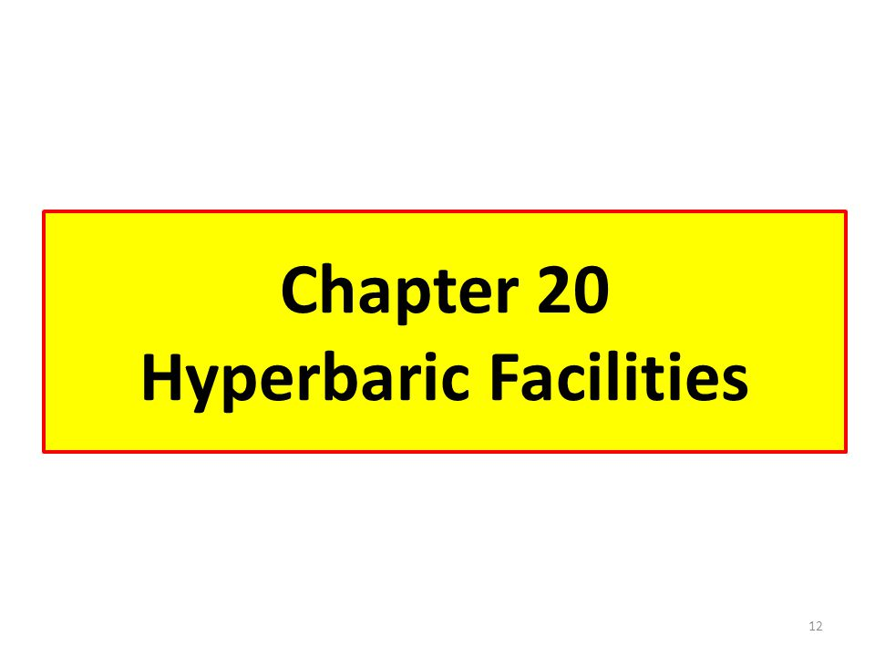 Chapter 20 Hyperbaric Facilities
