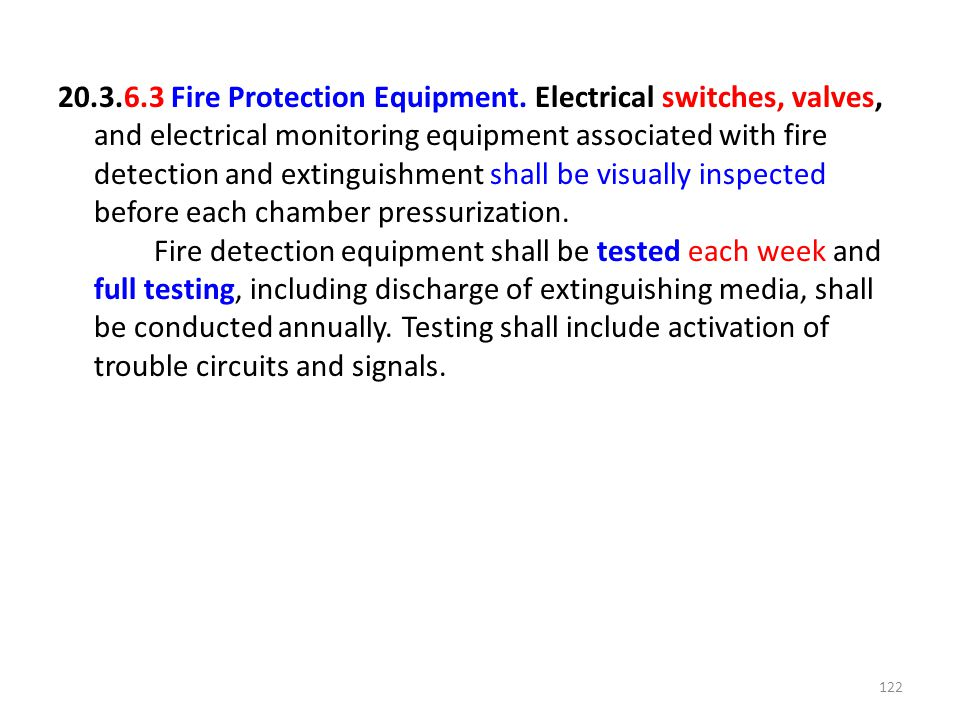 20. 3. 6. 3 Fire Protection Equipment