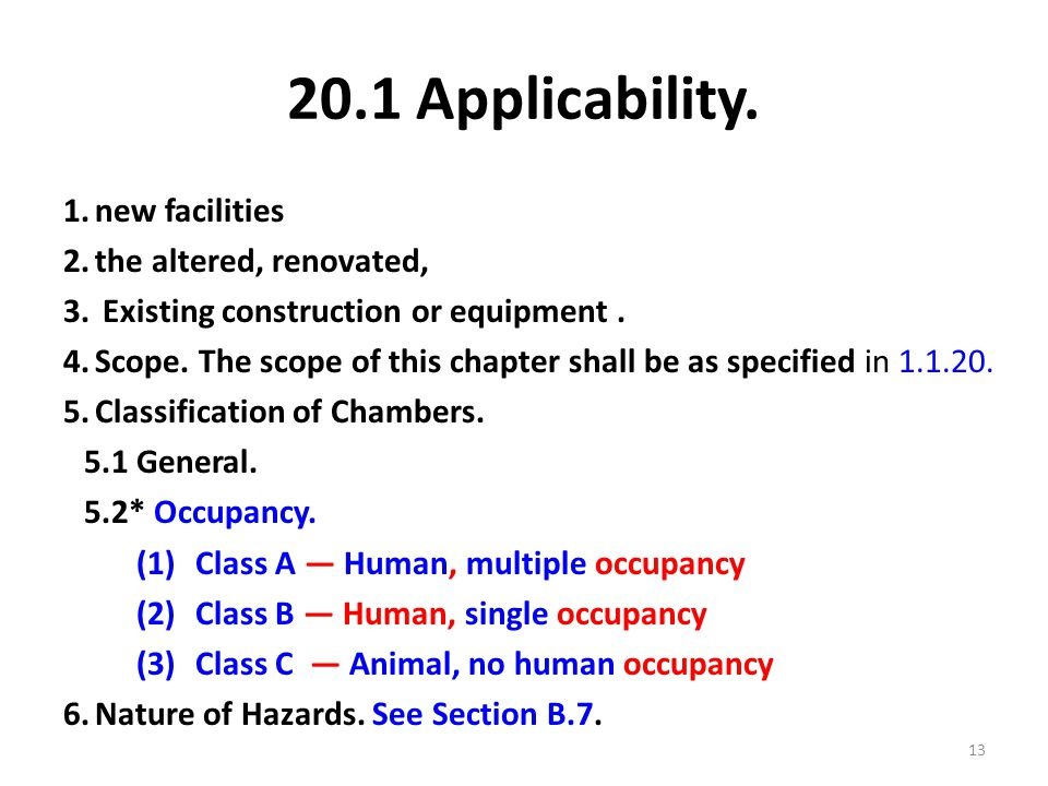 20.1 Applicability. new facilities the altered, renovated,