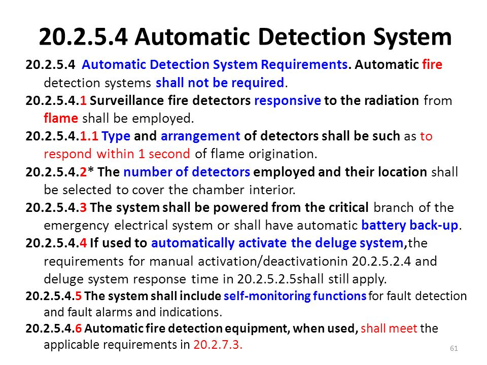 20.2.5.4 Automatic Detection System