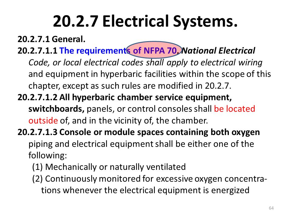 20.2.7 Electrical Systems.