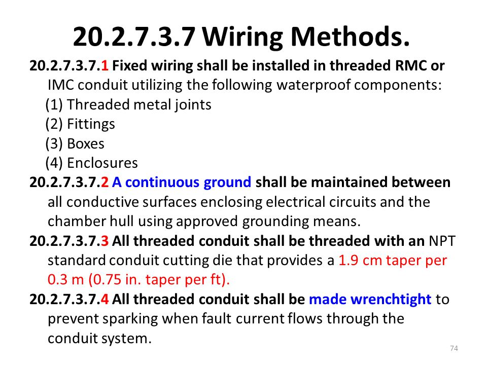 Wiring Methods.