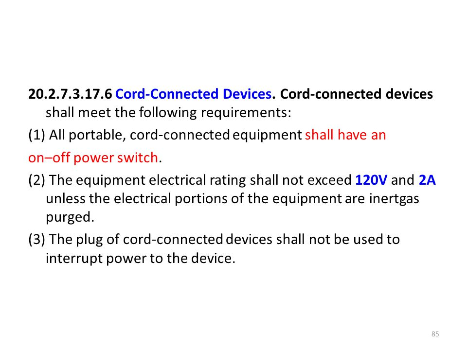Cord-Connected Devices