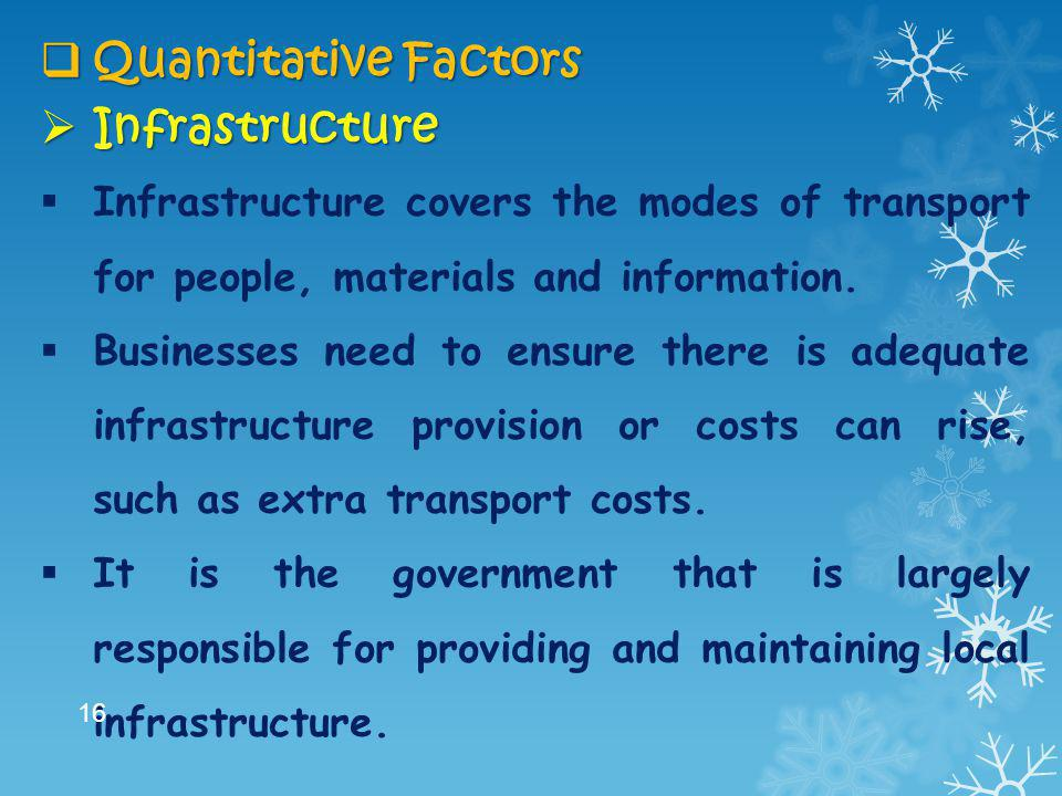 Quantitative Factors Infrastructure