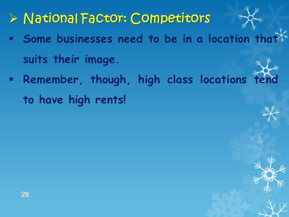 National Factor: Competitors