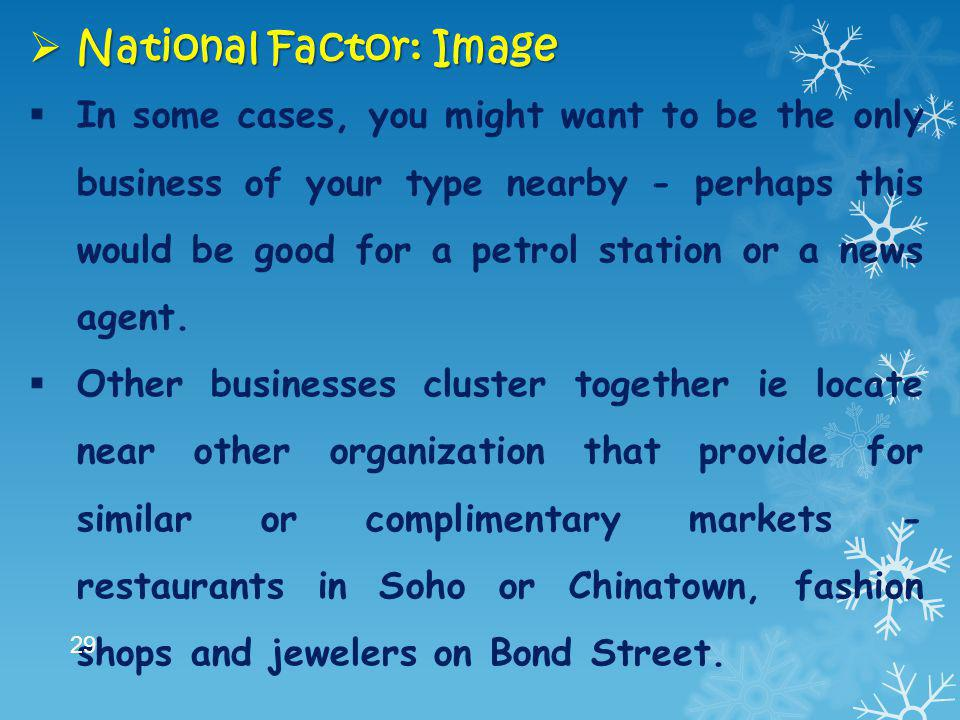 National Factor: Image